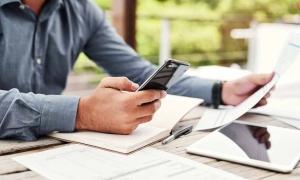 person calculating fica tax