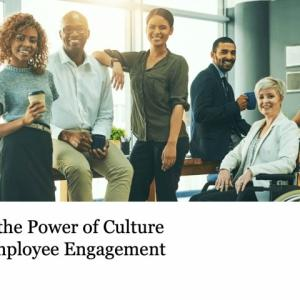 a team discussing the power of culture