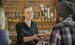 Employee at Bar Receiving Tip Credits