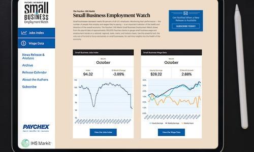Small Business Employment Watch Website