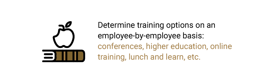 Determine training options on an employee-by-employee basis