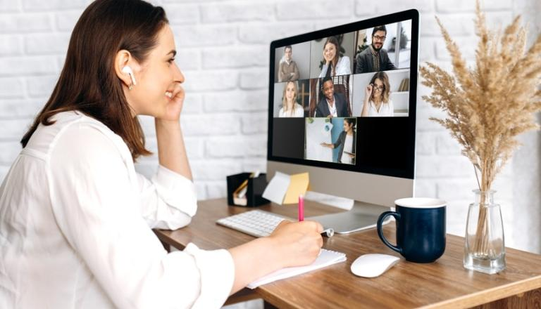 employer working on training employees virtually