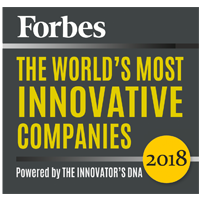 Forbes innovative award logo