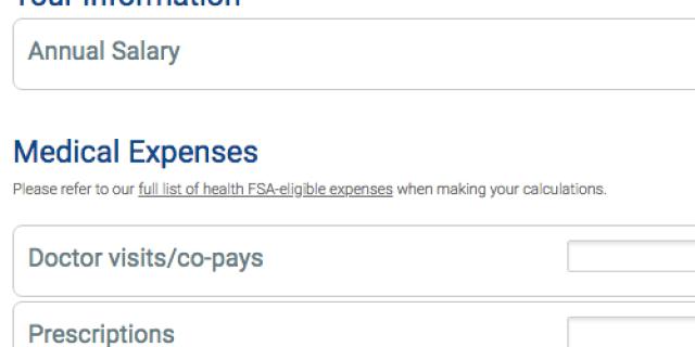 Calculadora de cuentas de gastos flexibles