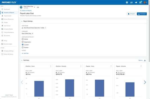 reporting and analytics in Flex