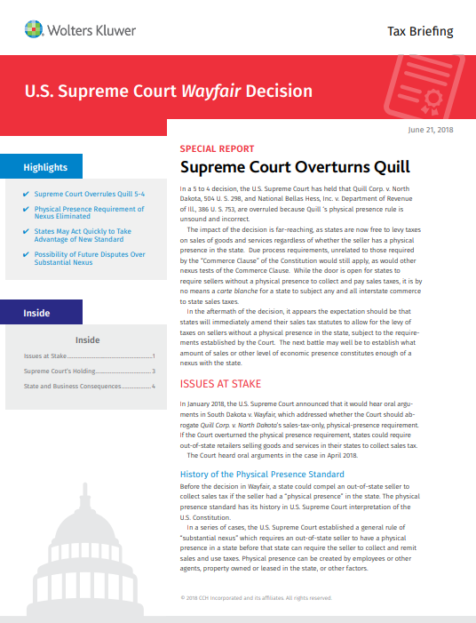 Supreme Court Overturns Quill, Altering Tax Regulations for Online Retailers