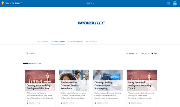 Catálogo LMS de Paychex Flex