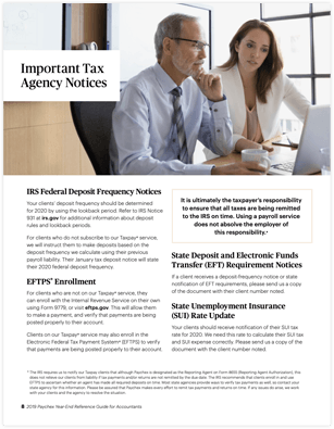 Important Tax Agency
